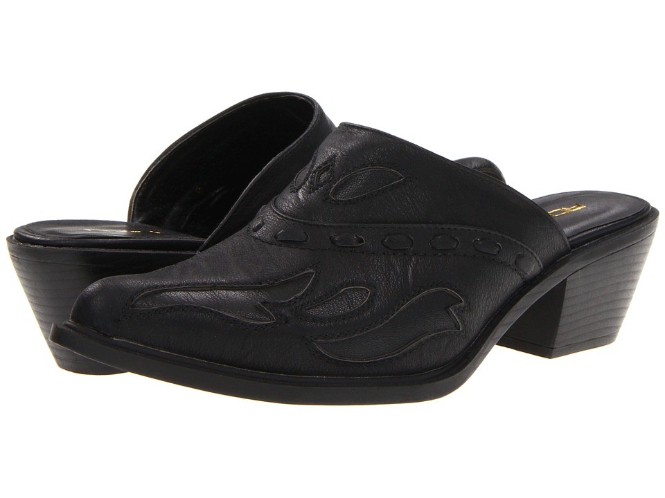 Roper - Rockstar Interlace Mule (Black) Cowboy Boots