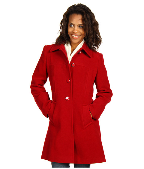Larry Levine - Luci Wool Walker Coat (Red1) - Apparel
