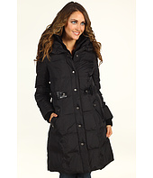 DKNY - Pillow Collar Coat w/ Faux Leather Trim