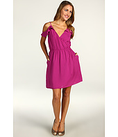 BCBGeneration - Cutout Shoulder Flutter Sleeve Dress