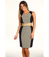 Calvin Klein - Seamed Stripe Sheath Dress