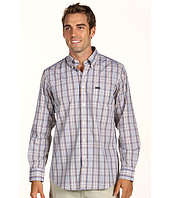 Faconnable - Plaid Cotton Twill Shirt in Grey