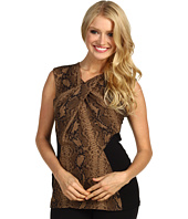Vince Camuto - Artisan Matte Sleeveless Twisted Neck Snakeskin Blouse