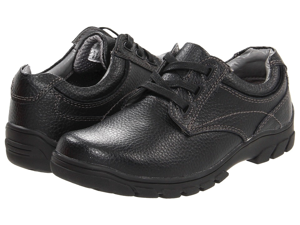 Florsheim Kids Getaway Plain Ox Jr. Toddler/Little Kid/Big Kid Black Boys Shoes
