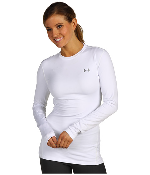 Under Armour ColdGear® Fitted L/S Crew - White/Silver
