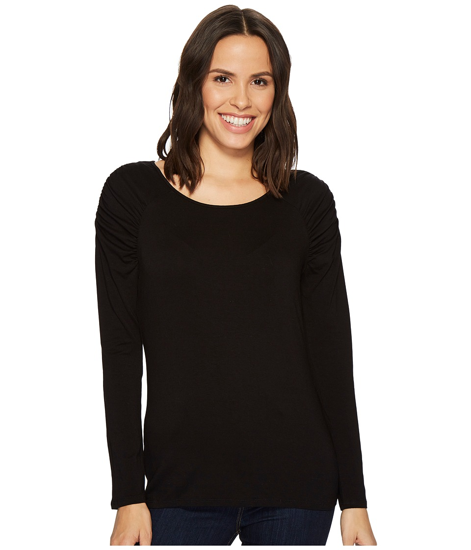 Vince Camuto - Essentials Cap Sleeve Rouched Neck Top