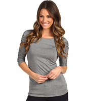 Vince Camuto - Essentials 3/4 Sleeve Rouched Scoop Neck Tee