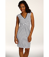 Karen Kane - Stripe Ponte Tuck Front Dress
