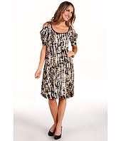 Karen Kane - Primitive Print Knit Drape Sleeve Dress