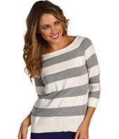 Vince Camuto - Rough & Refined Ribbed Trim Sequin Stripe Sweater