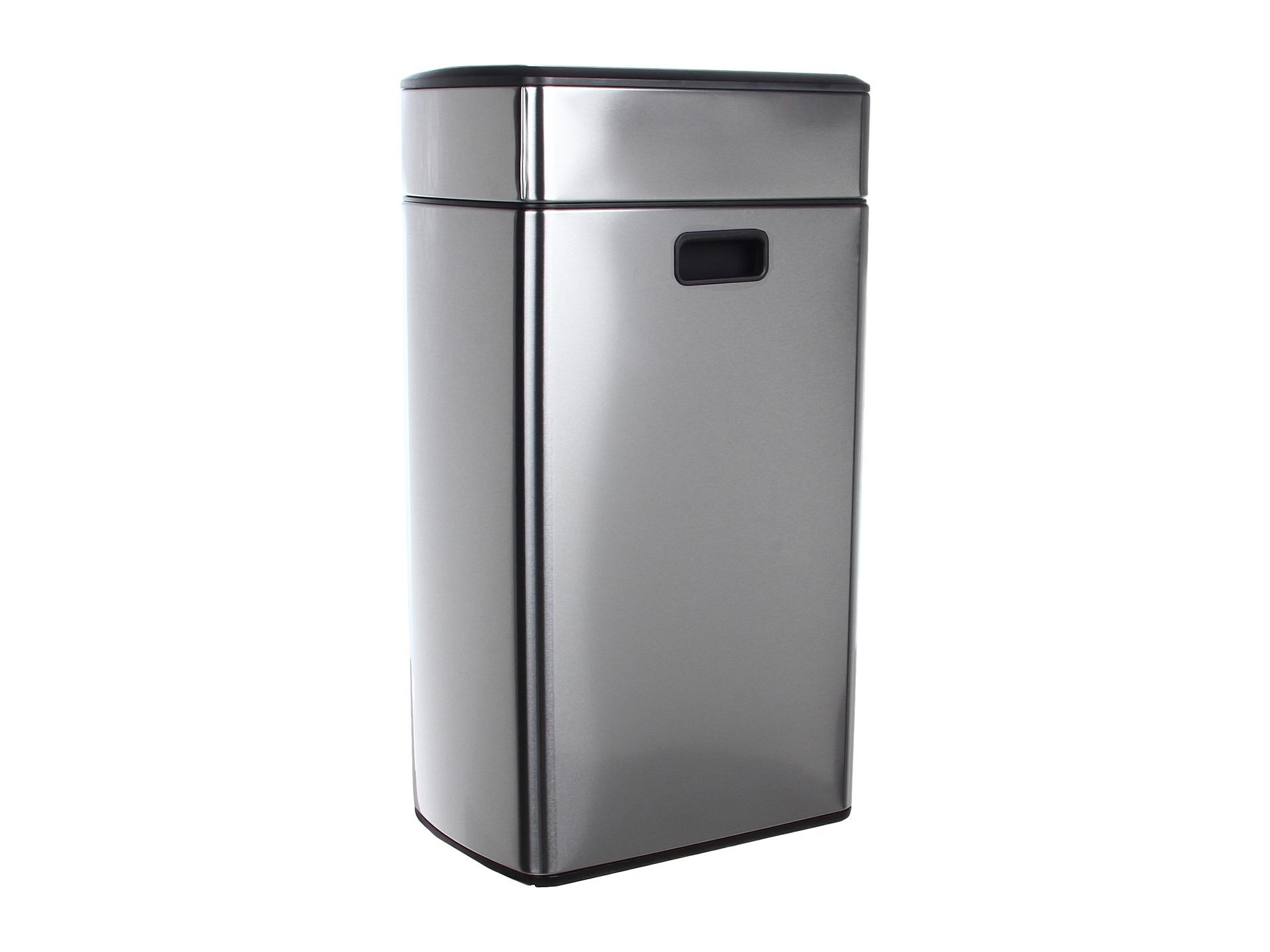 simplehuman simplehuman rectangular touch bar trash can fingerprint proof 40 liters 10 5. Black Bedroom Furniture Sets. Home Design Ideas