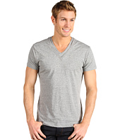 J.C. Rags - Faded Knit Double V Neck Tee