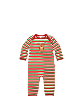 le top - Merry Reindeer Stripe Coverall (Infant)