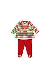 le top - Merry Reindeer Stripe Top & Footed Pant (Newborn)