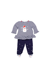 le top - Snow Day Stripe Top & Footed Pant (Newborn)