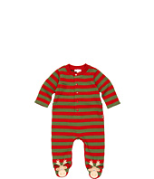 le top - Chocolate Moose Footed Stripe Coverall (Newborn)