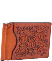 Nocona - Nocona Pro Series Tooled Bi-Fold/Money Clip Wallet