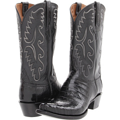 E2147 (Black Ultra Belly Caiman/Black Buffalo) Cowboy Boots