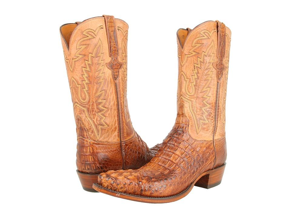 L1331 (Tan Burnished Mad Dog Hornback/Tan Burnished Mad Dog Goat) Cowboy Boots