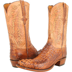 L1331 (Tan Burnished Mad Dog Hornback/Tan Burnished Mad Dog Goat) Cowboy Boots