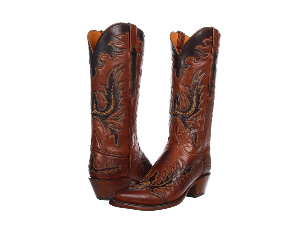 Lucchese L4625 (Tan Burnished Ranch) Cowboy Boots