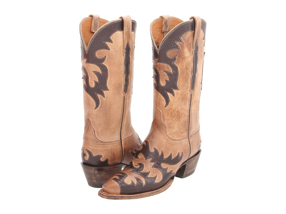 Lucchese L4723 (Pearl Mad Dog Goat) Cowboy Boots