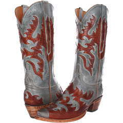 L4721 (Sky Blue Burnished Mad Dog Goat) Cowboy Boots