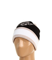 Mitchell & Ness - Los Angeles Kings Jersey Stripe Cuffed-Knit Beanie w/Pom Pom