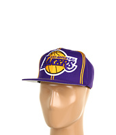Mitchell & Ness - NBA® Hardwood Classics™ XL Logo w/ Double Soutache Snapback - Los Angeles Lakers