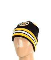 Mitchell & Ness - Boston Bruins Jersey Stripe Cuffed-Knit Beanie w/Pom Pom