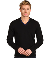 Michael Kors - Long Sleeve Tipped V-Neck