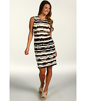 Calvin Klein - Blurred Stripe Printed Shift Dress