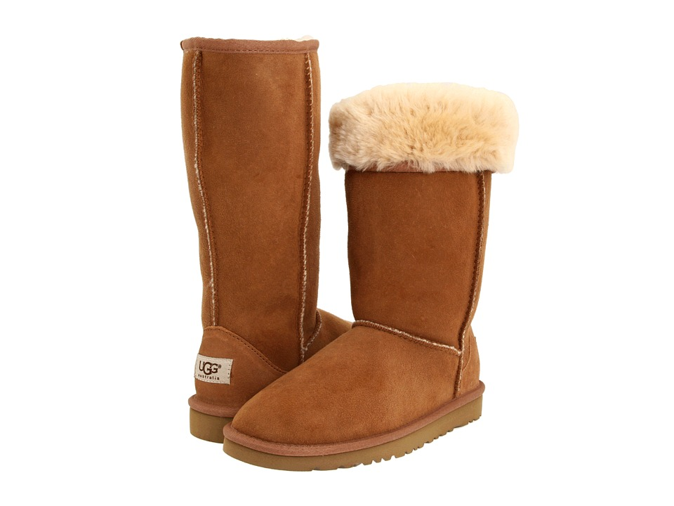 UGG Kids Classic Tall Big Kid Chestnut Girls Shoes