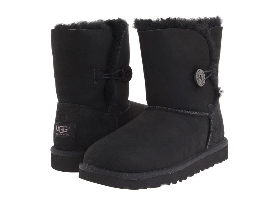 UGG Kids Bailey Button Big Kid 2 Black Girls Shoes
