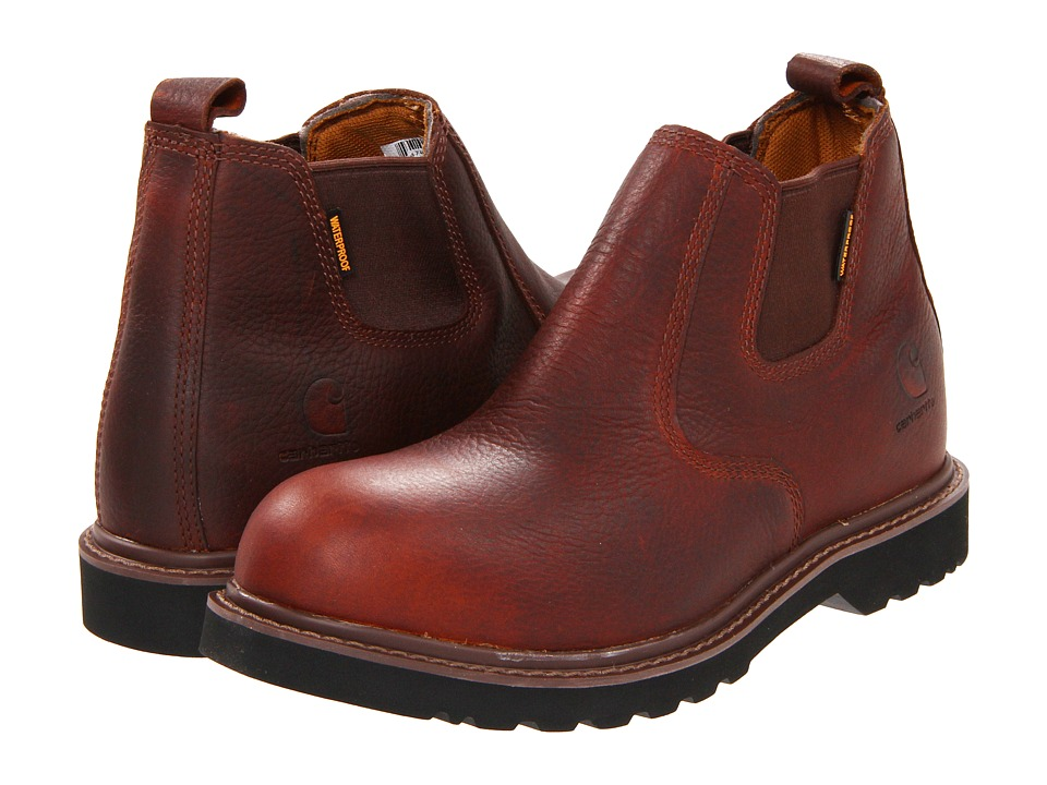 Carhartt - CMS4100 4 Romeo Boot (Dark Brown) Mens Work Pull-on Boots
