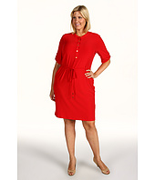 Calvin Klein - Plus Size Solid Roll Sleeve Dress