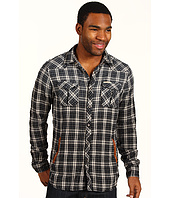 Scotch & Soda - Long-sleeve Check Shirt with Leather Detailed Front Pocket