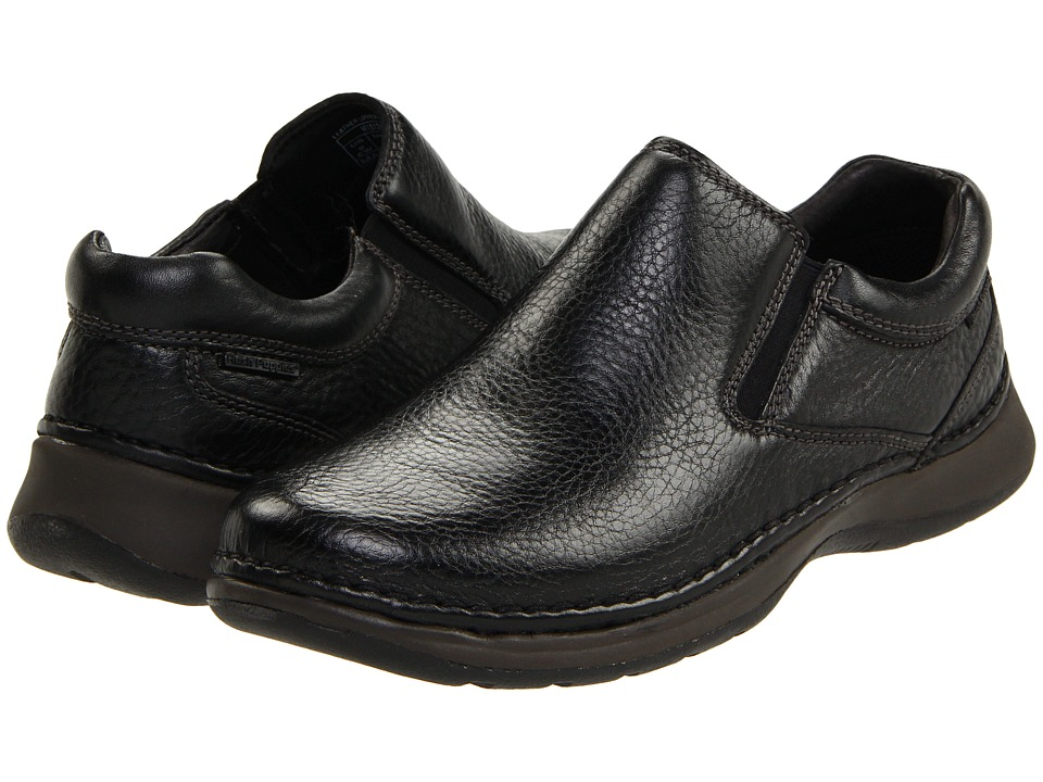 Hush Puppies - Lunar II (Black Leather) Mens Slip on  Shoes