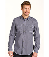 DKNY Jeans - L/S Roll Tab Check Military 2-Pocket Shirt