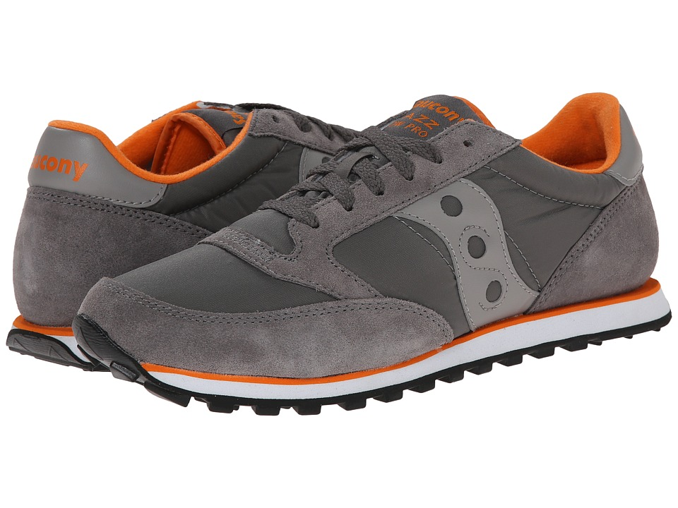 Saucony Originals - Jazz Low Pro (Charcoal/Orange) Men