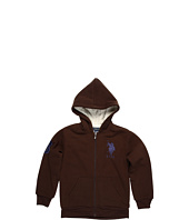 U.S. Polo Assn Kids - Zip Up Hoodie w/Sherpa Lining (Big Kids)