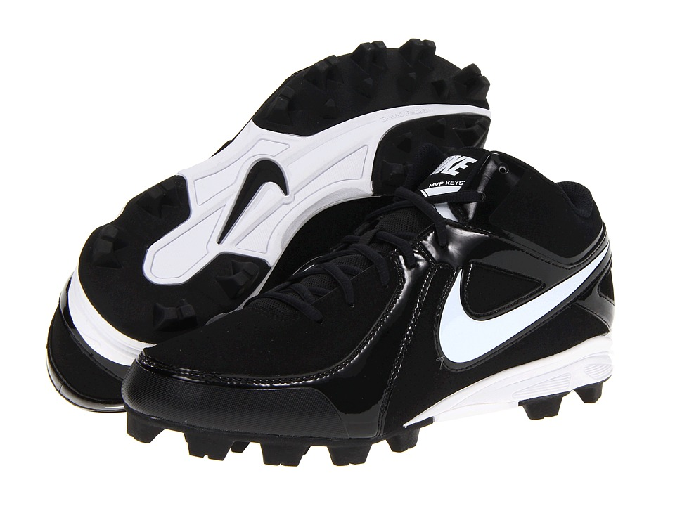 Nike - MVP Keystone 3/4 (Black/White) Mens Cleated Shoes