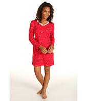 Karen Neuburger - Pop In Red L/S Henley Nightshirt
