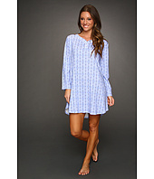 Karen Neuburger - Holiday Interlock L/S Henley Nightshirt