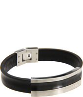 Breil Milano - Cave Leather Bracelet with Black IP Tag