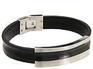 Cave Leather Bracelet with Black IP Tag