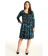 Karen Kane Plus - Plus Size Flare Sleeve A-Line Dress