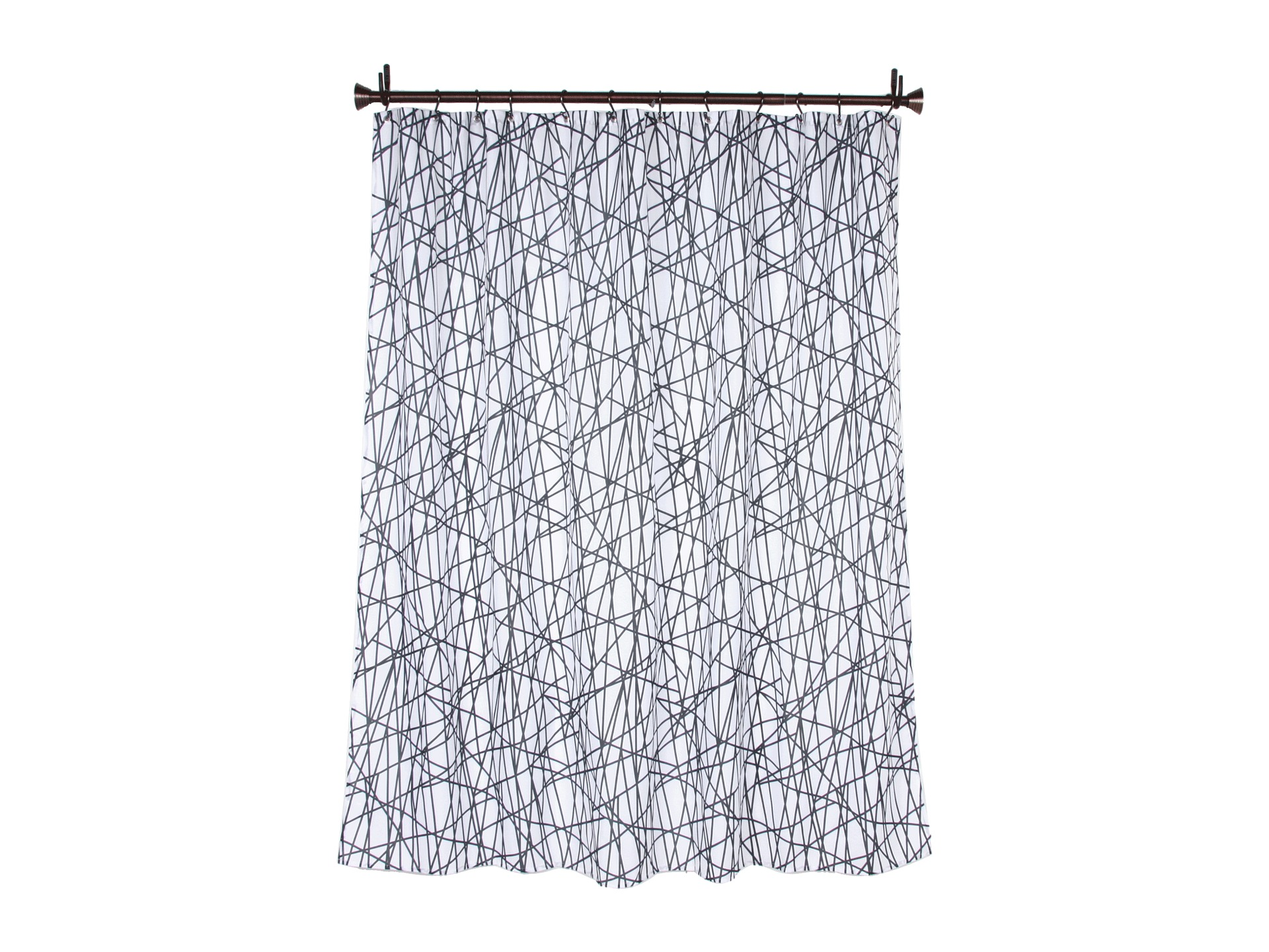 Interdesign Abstract Shower Curtain Black White Shipped Free At Zappos