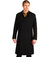 Scully - Distinguished Wool Double Breasted Frock Coat w/ Contrast Velvet Trimmed Collar