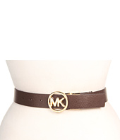 Cheap Michael Michael Kors 1 1 2 W Mk Logo Reversible Belt Chocolate